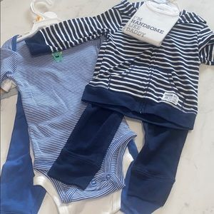 2 Sets of 12months Carter's blue outfits